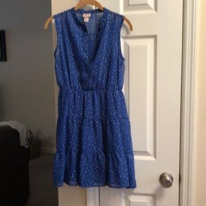 Mossimo.  Blue w/ white dots.  Size S/P.  Tiered